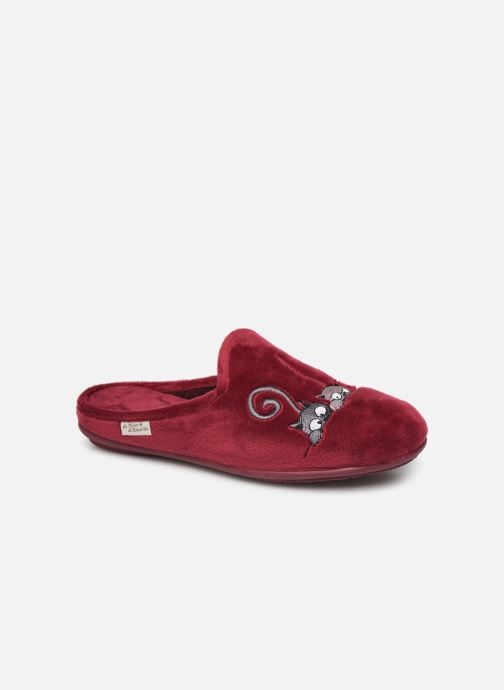 Hjemmesko La maison de l'espadrille Lou 2 Bordeaux detaljeret billede af skoene