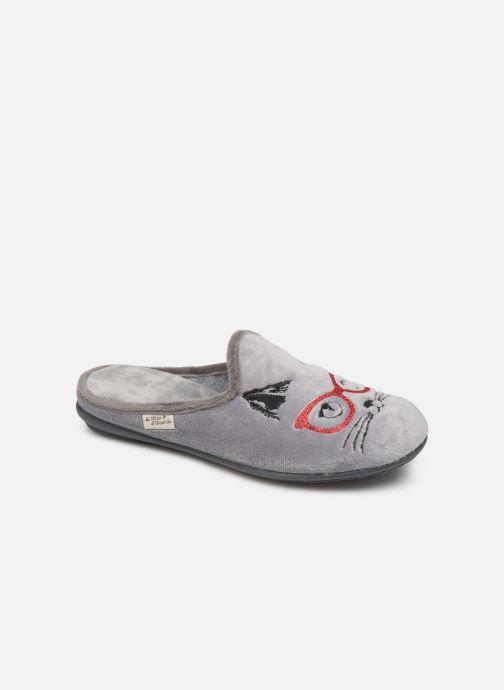 Hjemmesko La maison de l'espadrille Tania Grå detaljeret billede af skoene