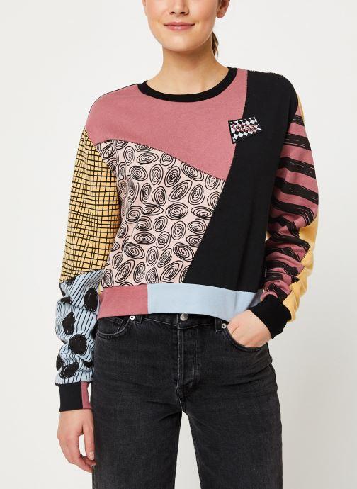 Vêtements Vans Sally Patchwork Crew Multicolore vue détail/paire