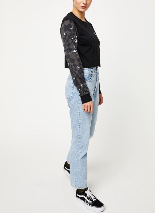 Vêtements Vans Jacks Check LS BF Crop Noir vue bas / vue portée sac