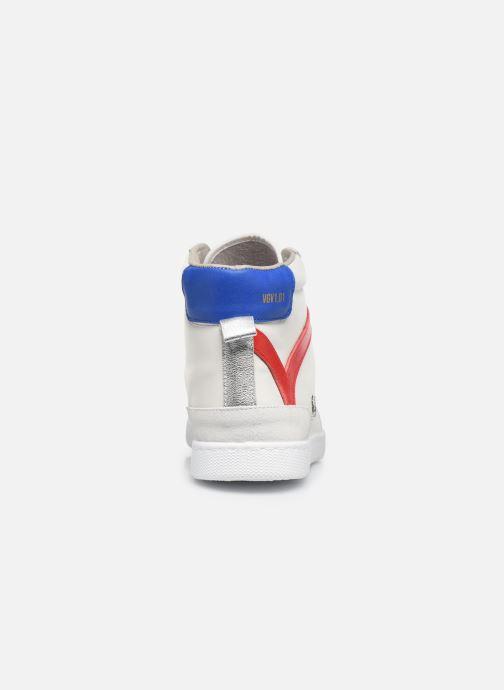 Sneakers Victoria Tenis Piel x Valentine Bianco immagine destra