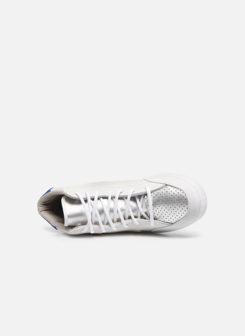 Sneaker Victoria Tenis Piel x Valentine weiß ansicht von links