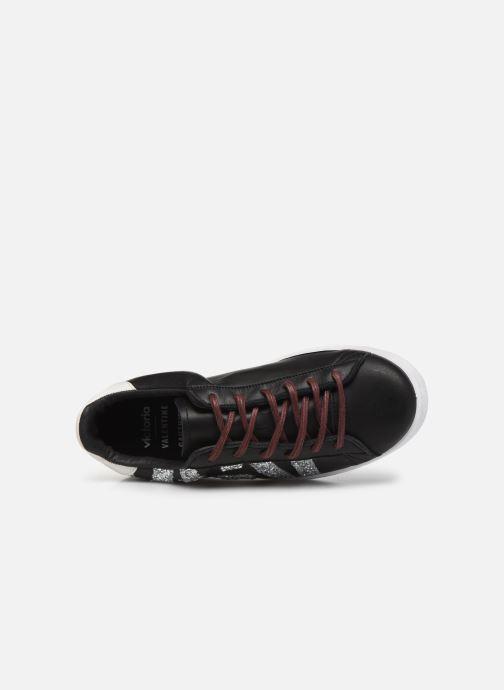 Sneaker Victoria Tenis Piel x Valentine schwarz ansicht von links