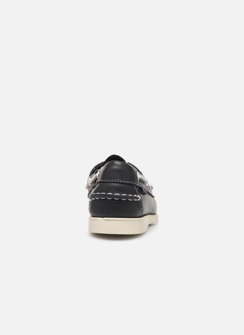Zapatos con cordones Sebago Docksides Portland W C Azul vista lateral derecha