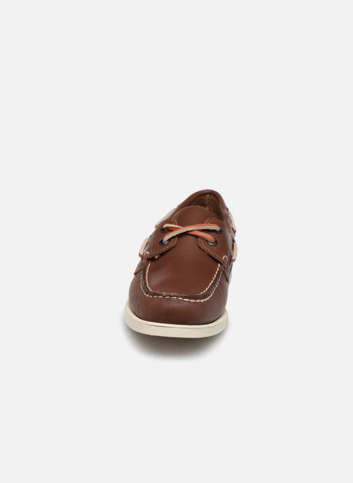 Chaussures à lacets Sebago Docksides Portland W C Marron vue portées chaussures