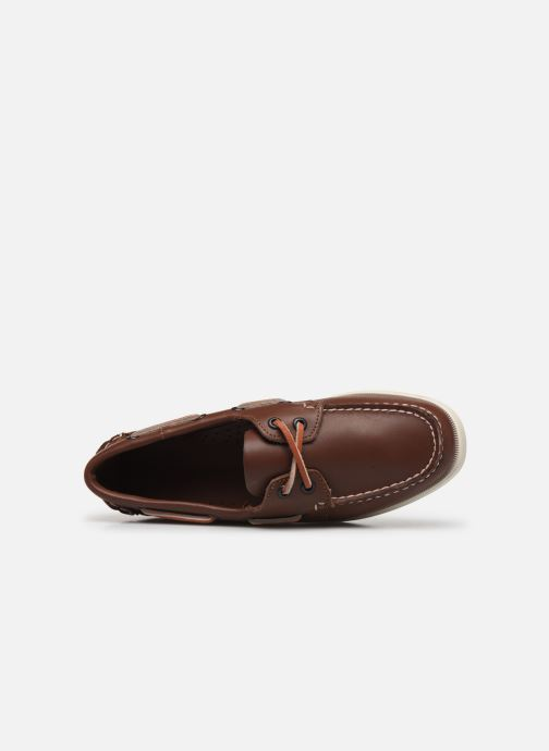 Lace-up shoes Sebago Docksides Portland W C Brown view from the left