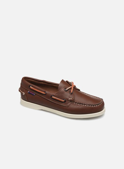 Chaussures à lacets Sebago Docksides Portland W C Marron vue détail/paire
