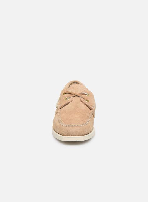 Chaussures à lacets Sebago Docksides Portland Suede W C Beige vue portées chaussures