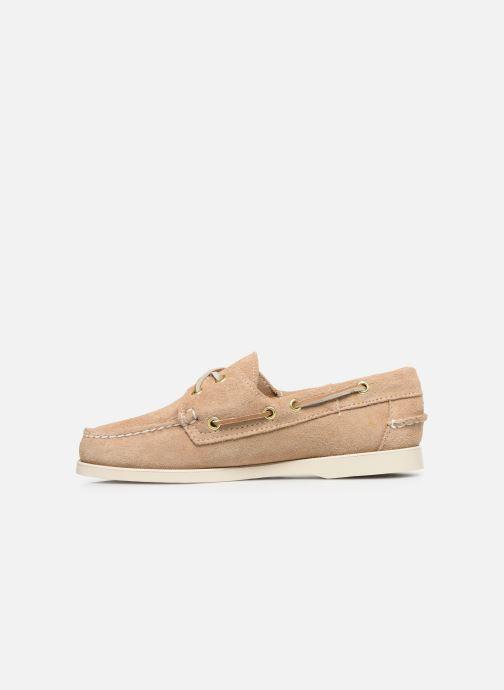 Chaussures à lacets Sebago Docksides Portland Suede W C Beige vue face