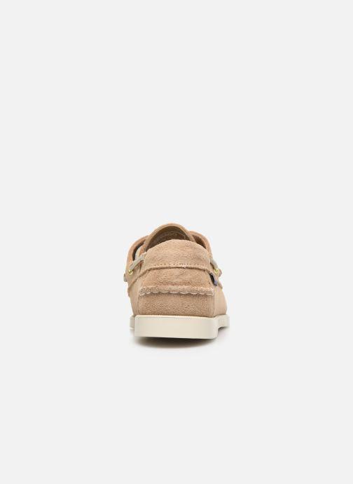 Chaussures à lacets Sebago Docksides Portland Suede W C Beige vue droite