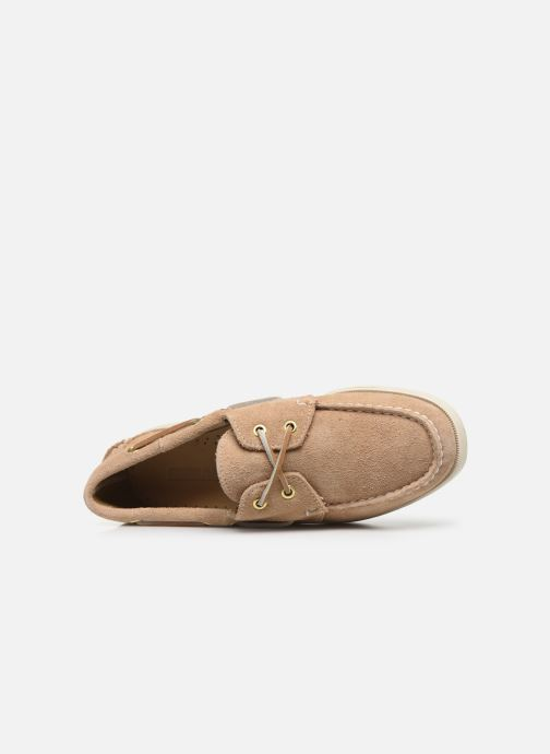 Chaussures à lacets Sebago Docksides Portland Suede W C Beige vue gauche