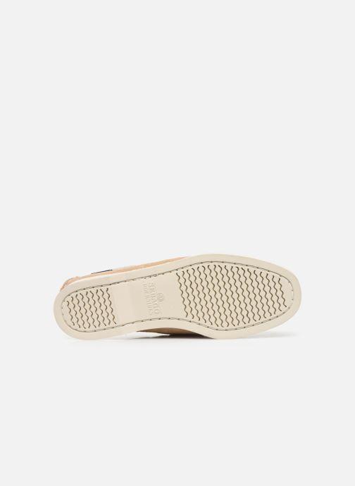 Chaussures à lacets Sebago Docksides Portland Suede W C Beige vue haut