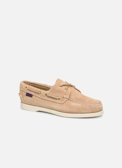 Chaussures à lacets Sebago Docksides Portland Suede W C Beige vue détail/paire