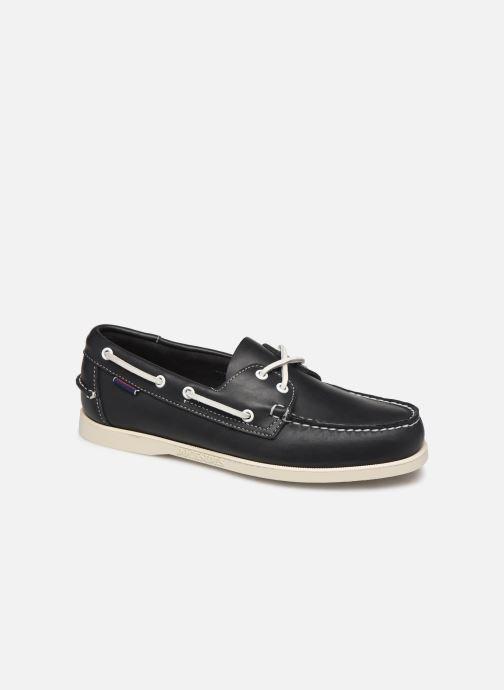 Chaussures à lacets Sebago Docksides Portland Crazy H C Bleu vue détail/paire