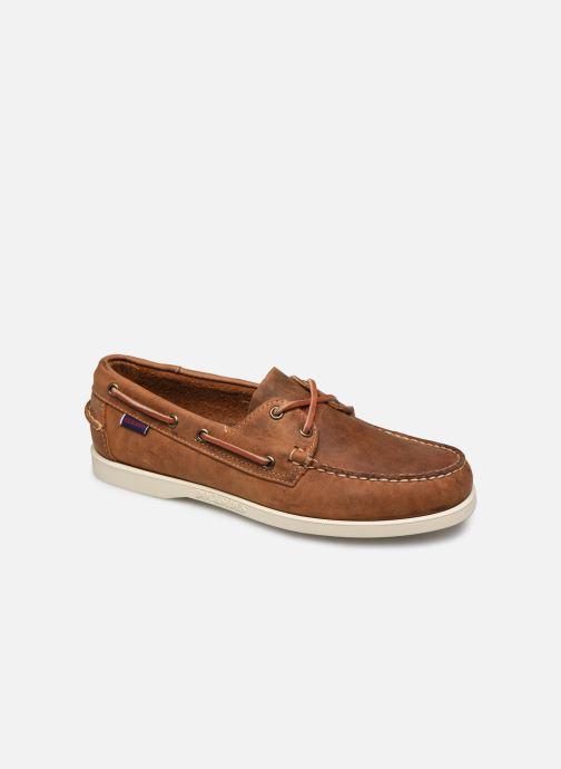 Chaussures à lacets Sebago Docksides Portland Crazy H C Marron vue détail/paire