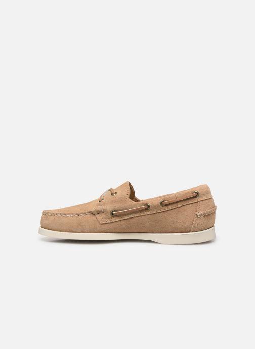 Chaussures à lacets Sebago Portland Docksides Suede C Beige vue face