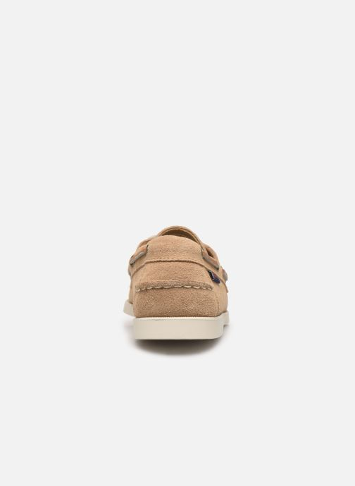 Chaussures à lacets Sebago Portland Docksides Suede C Beige vue droite