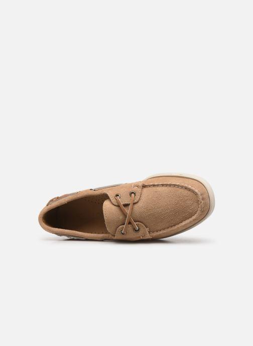 Chaussures à lacets Sebago Portland Docksides Suede C Beige vue gauche