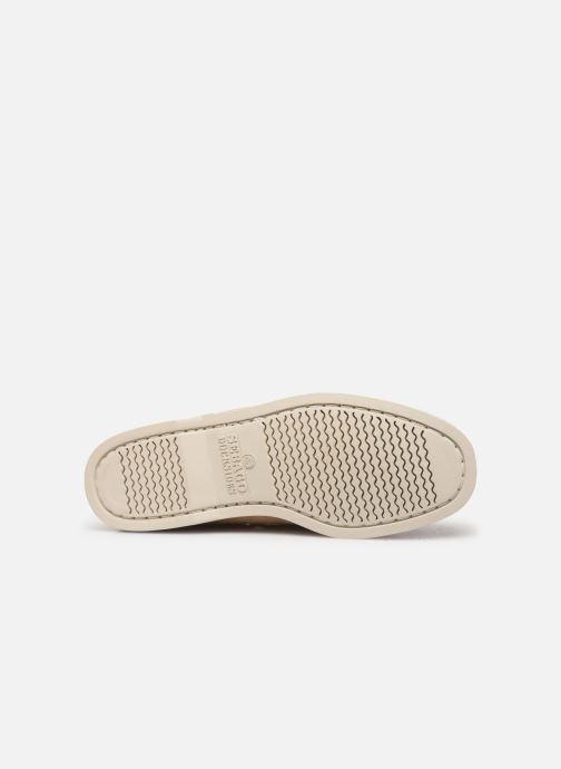 Chaussures à lacets Sebago Portland Docksides Suede C Beige vue haut