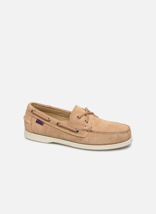 Chaussures à lacets Sebago Portland Docksides Suede C Beige vue détail/paire