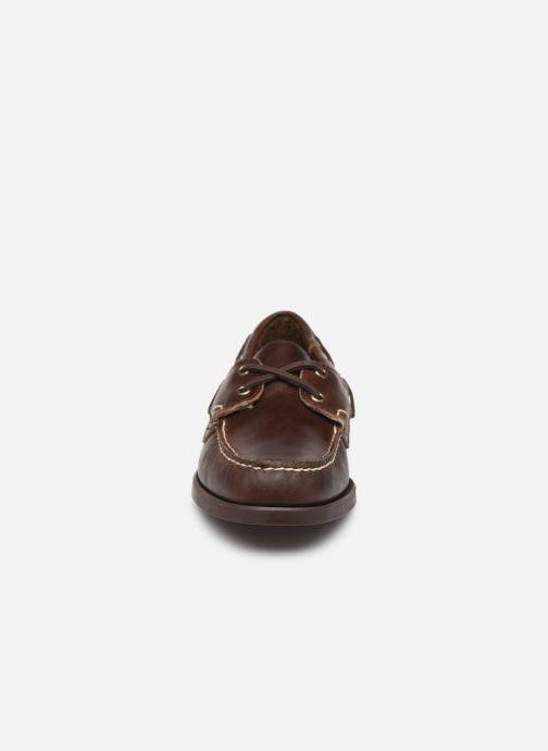 Zapatos con cordones Sebago Docksides Portland Waxed C Marrón vista del modelo