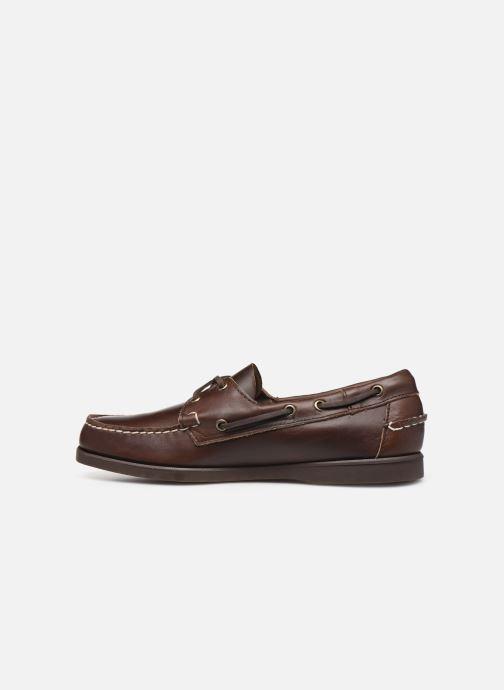 Chaussures à lacets Sebago Docksides Portland Waxed C Marron vue face