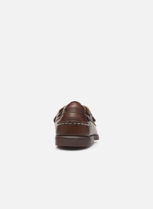 Zapatos con cordones Sebago Docksides Portland Waxed C Marrón vista lateral derecha