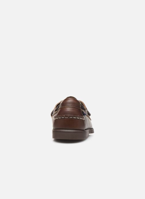 Chaussures à lacets Sebago Docksides Portland Waxed C Marron vue droite
