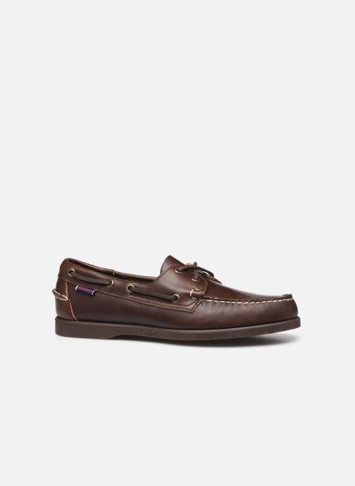 Chaussures à lacets Sebago Docksides Portland Waxed C Marron vue derrière