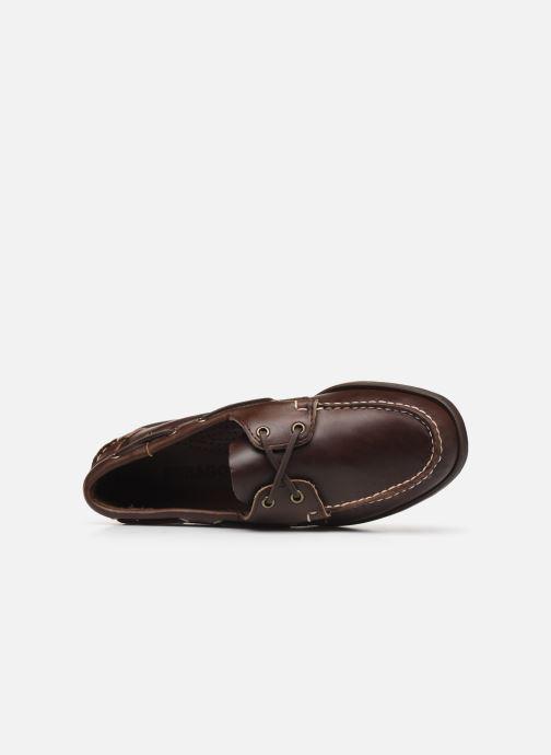 Zapatos con cordones Sebago Docksides Portland Waxed C Marrón vista lateral izquierda