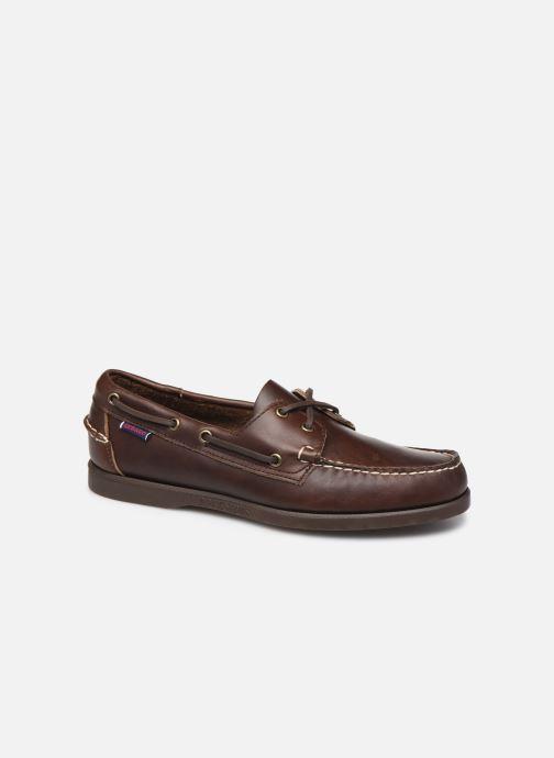 Chaussures à lacets Sebago Docksides Portland Waxed C Marron vue détail/paire