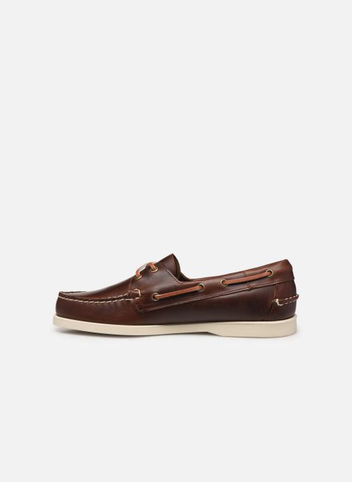 Lace-up shoes Sebago Docksides Portland Waxed C Brown front view