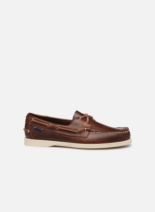 Lace-up shoes Sebago Docksides Portland Waxed C Brown back view
