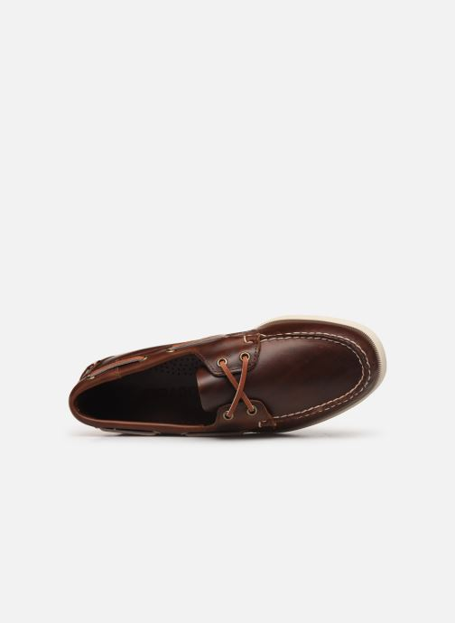 Lace-up shoes Sebago Docksides Portland Waxed C Brown view from the left