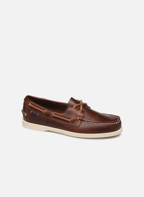 Lace-up shoes Sebago Docksides Portland Waxed C Brown detailed view/ Pair view