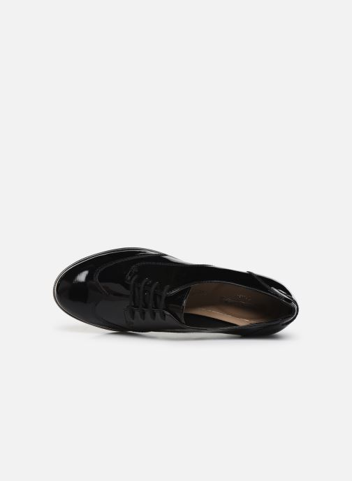 Lace-up shoes Clarks Andora Trick Black view from the left