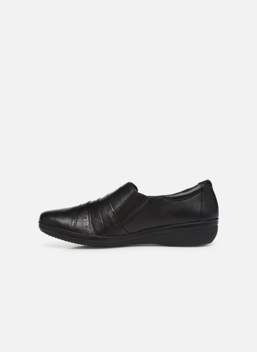 Loafers Clarks Everlay Luna Black front view