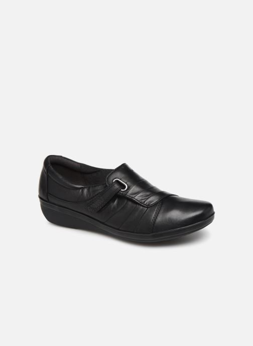 Loafers Clarks Everlay Luna Black detailed view/ Pair view