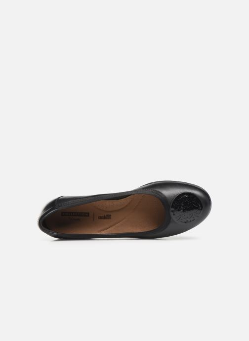 Ballet pumps Clarks Gracelin Lola Black view from the left
