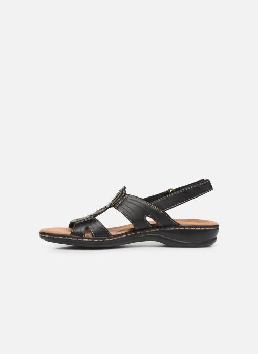 Sandales et nu-pieds Clarks Leisa Vine Noir vue face