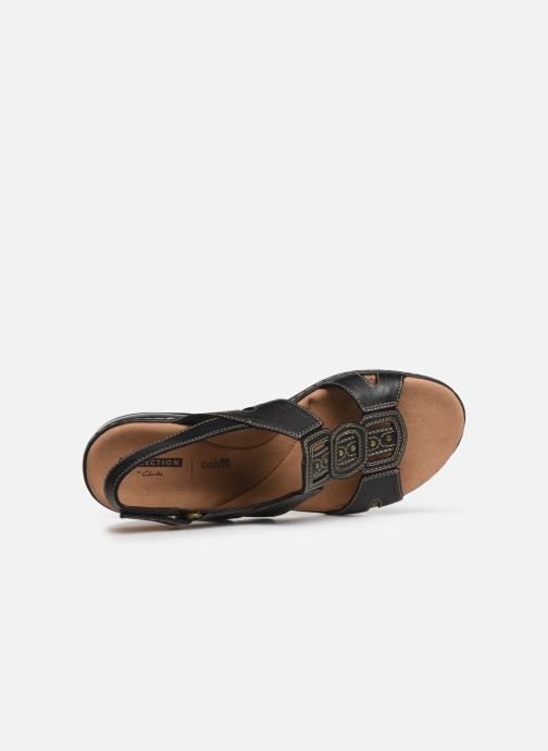 Sandals Clarks Leisa Vine Black view from the left