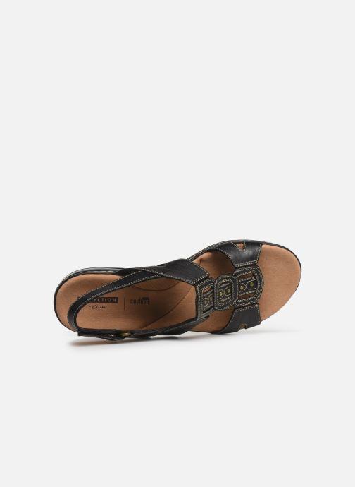 Sandales et nu-pieds Clarks Leisa Vine Noir vue gauche