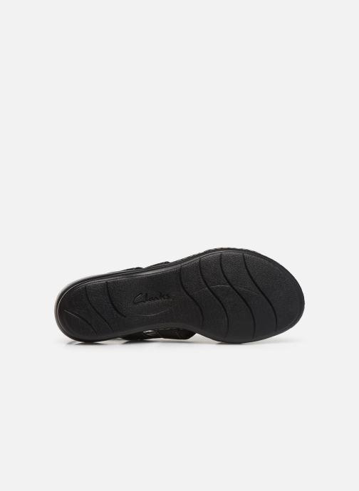 Sandales et nu-pieds Clarks Leisa Vine Noir vue haut