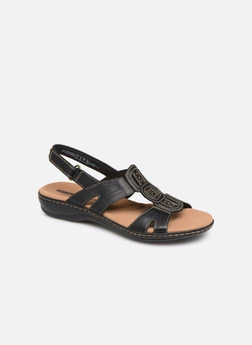 Sandals Clarks Leisa Vine Black detailed view/ Pair view