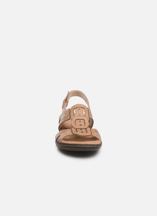 Sandalen Clarks Leisa Vine beige schuhe getragen