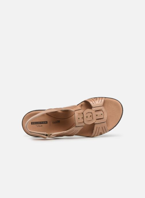 Sandals Clarks Leisa Vine Beige view from the left