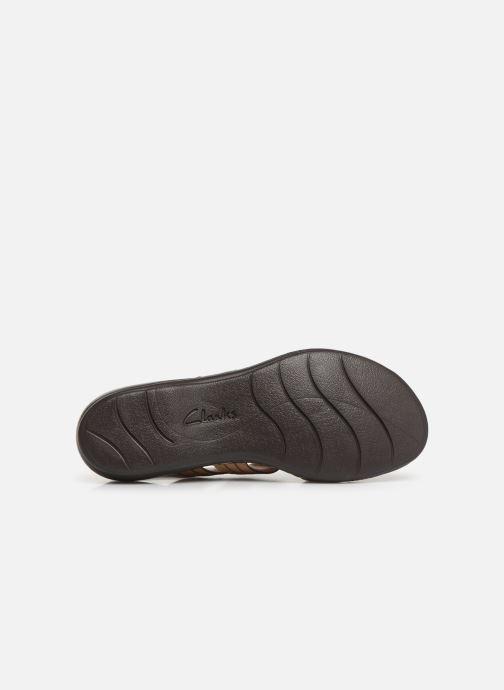 Sandali e scarpe aperte Clarks Leisa Vine Beige immagine dall'alto