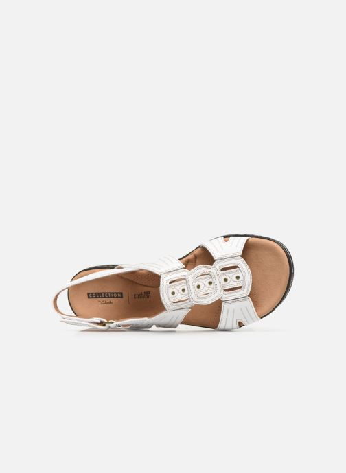 Sandals Clarks Leisa Vine White view from the left