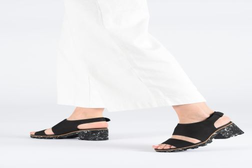 Sandals Clarks Rene Sienna Black view from underneath / model view