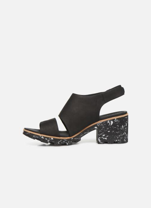 Sandales et nu-pieds Clarks Rene Sienna Noir vue face